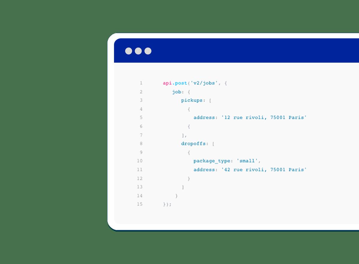 API code lines