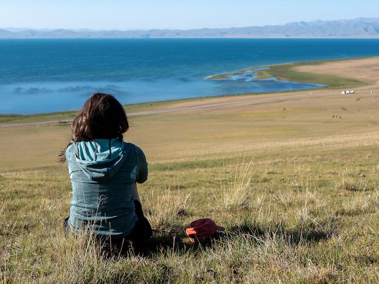 Camille Lemaitre visiting Kyrgyzstan