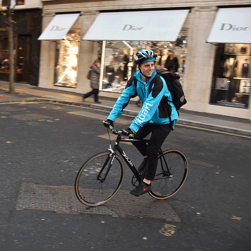 courier on bike
